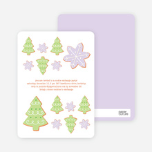 Snowflake Cookie Holiday Invitation - Lavender
