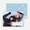Snowflake Flourish Holiday Photo Cards - White