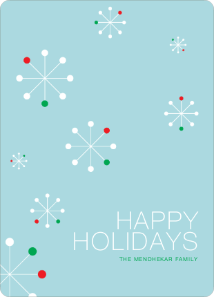 Snowflake Themed Holiday Cards - Basil