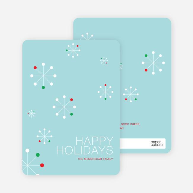Snowflake Themed Holiday Cards - Basil