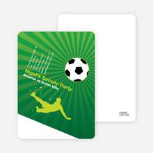 Soccer Party Invitation - Flourescent Green