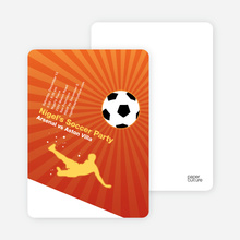 Soccer Party Invitation - Orangsicle