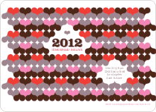 Psychedelic Hearts New Year's Party Invitations - Hot Pink