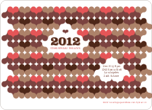 Psychedelic Hearts New Year's Party Invitations - Cappuccino