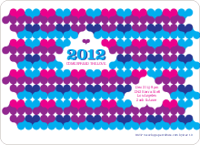 Psychedelic Hearts New Year's Party Invitations - Magenta