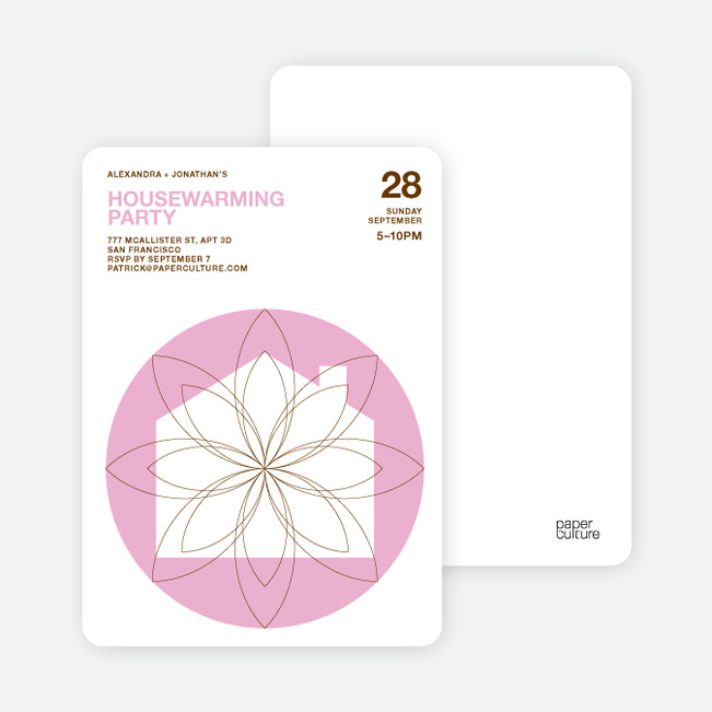 Spiral House Moving Cards - Cotton Candy Pink