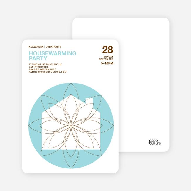 Spiral House Moving Cards - Cornflower Blue