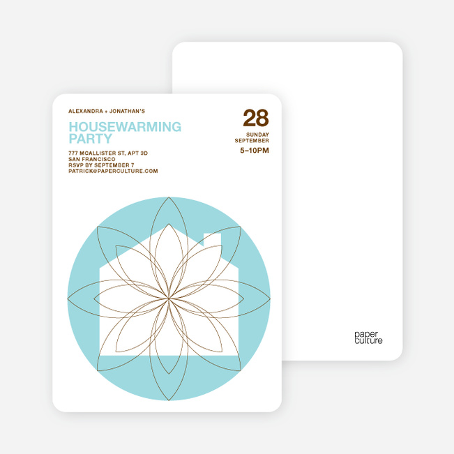 Spiral House Moving Cards - Cornflower Blue