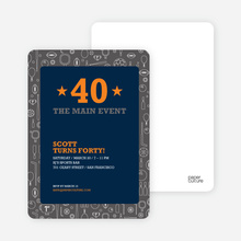 Sports Mania Party Invitations - Navy Blue