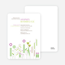 Spring Beauty Flower Shower Invites - Magenta