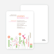 Spring Beauty Flower Bridal Shower Invitations - Persimmon Orange