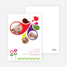 Sprouting Baby Birth Announcement - Multi
