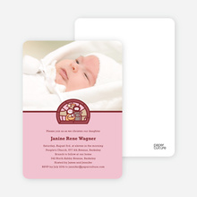 Stained Glass Baptism Photo Card - Pink