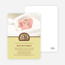 Stained Glass Baptism Photo Card - Yellow