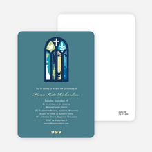 Stained Glass Christening Card - Blue