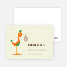 Stanley the Stork Pregnancy Announcement Cards - Lemon Pool