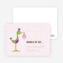 Stork Bundle of Joy - Pink Berry