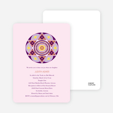 Star of David Bar Mitzvah and Bat Mitzvah Invitations - Blush