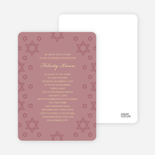 Star of David Border Invites - Tea Rose