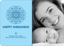 Hanukkah Star Photo Card - Cadet Blue