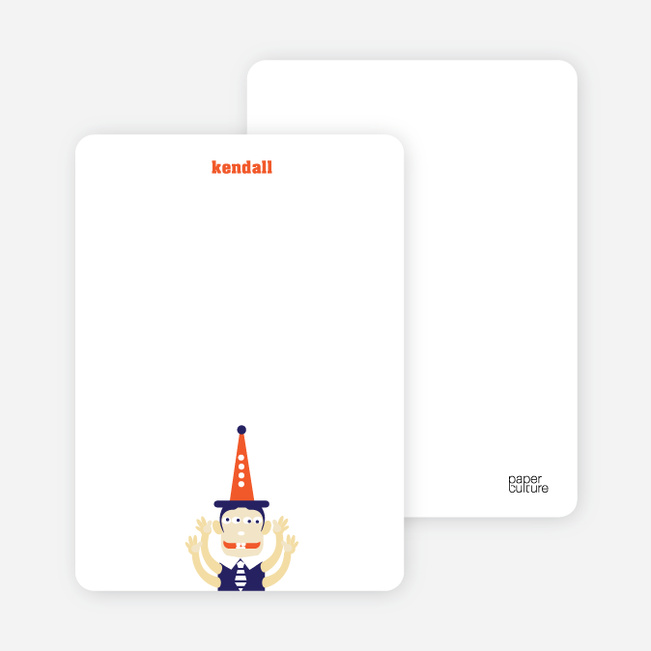 Stationery: 'Abracadabra!' cards. - Eggplant