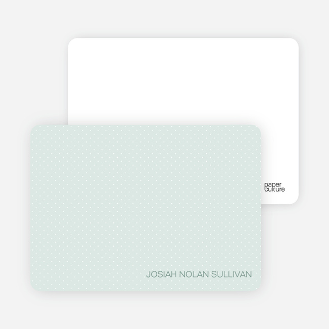 Stationery: 'Color Stripe: Boy' cards. - Light Green