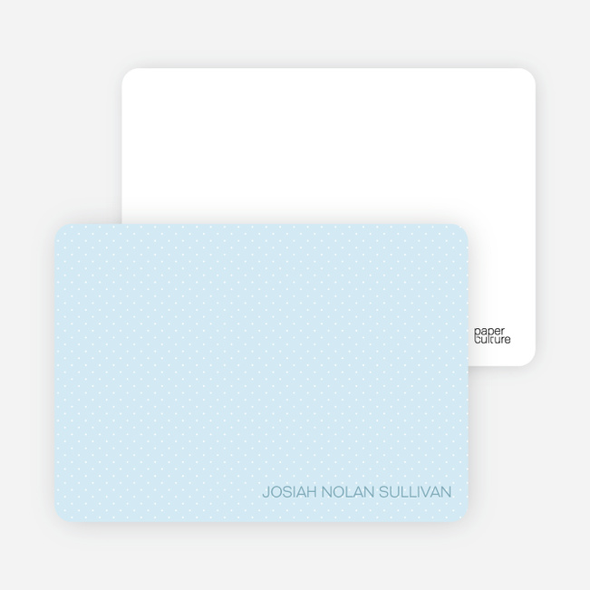Stationery: 'Color Stripe: Boy' cards. - Baby Blue