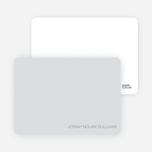 Stationery: 'Color Stripe: Boy' cards. - Grey