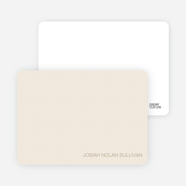 Stationery: 'Color Stripe: Boy' cards. - Beige