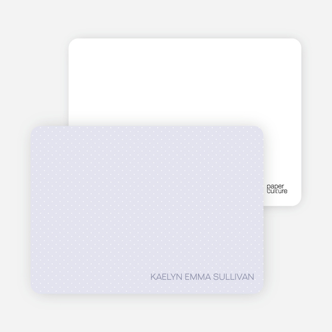 Stationery: 'Color Stripe: Girl' cards. - Purple