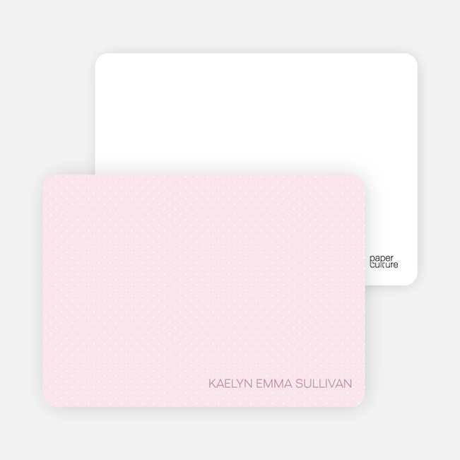 Stationery: 'Color Stripe: Girl' cards. - Pink