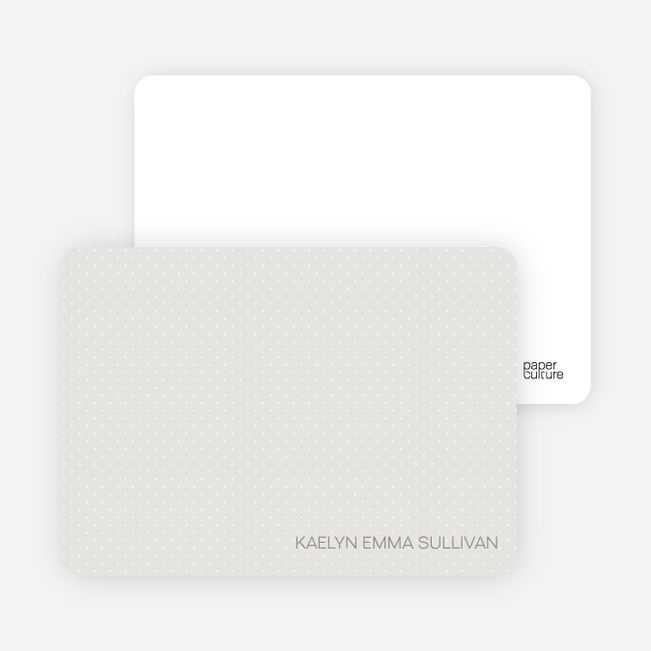 Stationery: 'Color Stripe: Girl' cards. - Grey