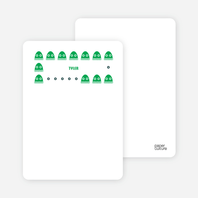 Stationery: 'Creepy Creatures' cards. - Forest Green