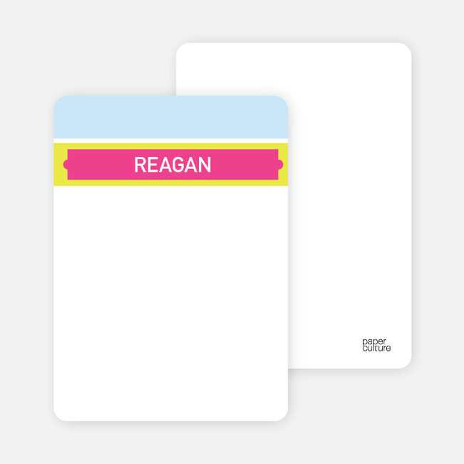 Stationery: 'First Year Milestones' cards. - Shocking Pink