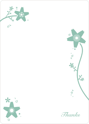 Stationery: 'Floral Bridal Shower' cards. - Sage