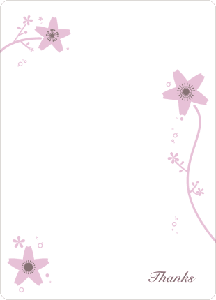 Stationery: 'Floral Bridal Shower' cards. - Cotton Candy Pink