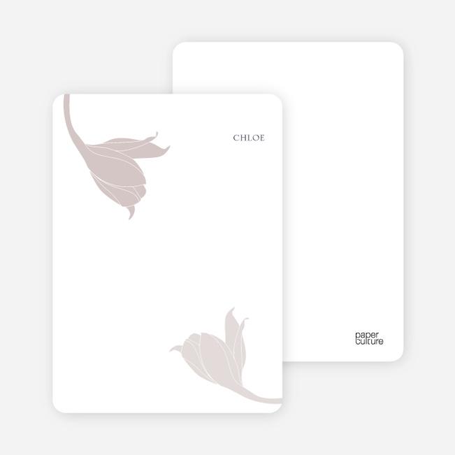 Stationery: 'Floral Elegance' cards. - Ash