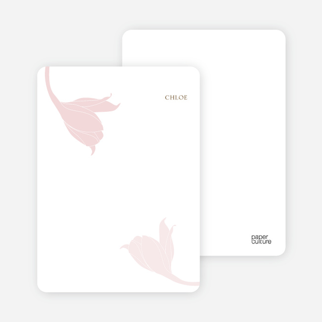 Stationery: 'Floral Elegance' cards. - Dusty Rose