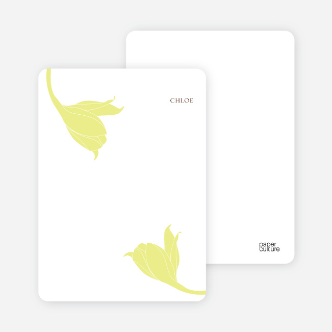 Stationery: 'Floral Elegance' cards. - Neon Yellow