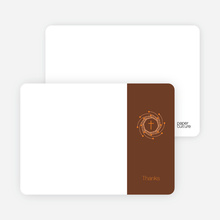Stationery: 'Holiday Baptism Invitation' cards. - Orange