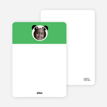 Stationery: 'Kung Fu and Bamboo Panda' cards. - Emerald Green