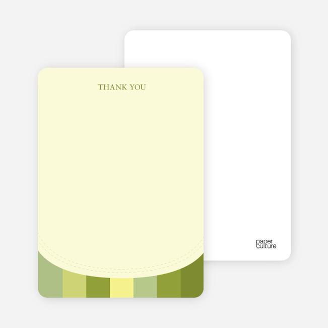 Stationery: 'Modern Bib' cards. - Olive