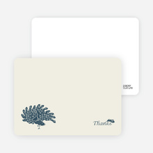 Peacock Bridal Shower Note Cards - Slate Blue