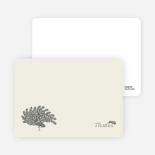 Peacock Bridal Shower Note Cards - Charcoal