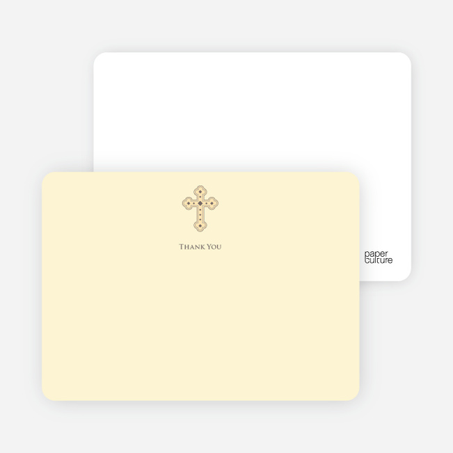 Stationery: 'Photo Card Holy Communion Invite' cards. - Creamy Yellow