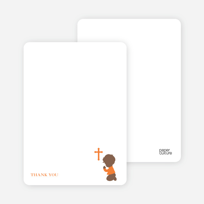 Stationery: 'Prayers Answered' cards. - Orange