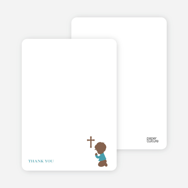 Stationery: 'Prayers Answered' cards. - Greenish Blue