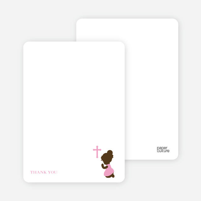 Stationery: 'Prayers Answered' cards. - Pink
