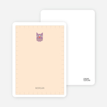 Quilted Owl Note Cards - Beige