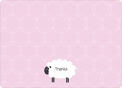 Stationery: 'Sheep Baby Shower' cards. - Fuchsia